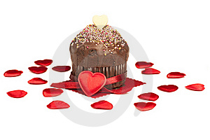 Valentine Muffin Royalty Free Stock Image - Image: 22448626