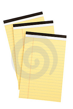 Three Pads Of Paper Royalty Free Stock Photo - Image: 22450635