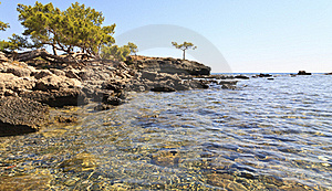 Beach At Phaesalis, Antalya Turkey Royalty Free Stock Photography - Image: 22454107