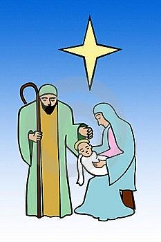 Nativity, Holy Family Royalty Free Stock Images - Image: 22454589