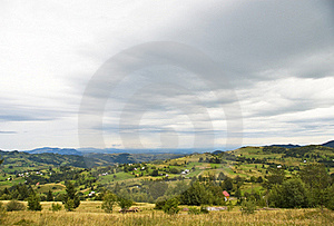 Mountain Village Landscape With Dramatic Sky Royalty Free Stock Photography - Image: 22459477
