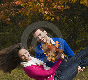 Autumn Enjoyment Royalty Free Stock Image - Image: 22459716