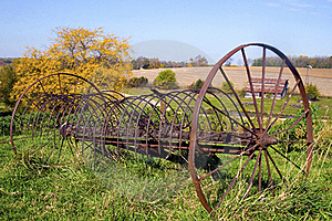 Abandon Rustic Farm Rake Royalty Free Stock Photos - Image: 22461068