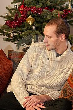 Man Celebrating Christmas Royalty Free Stock Image - Image: 22465346