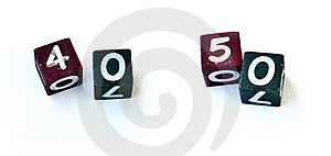 Number Cubes 0027 Stock Images - Image: 22467544