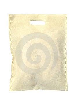 Synthetic Fabric Bag Isolated On White Background Stock Photo - Image: 22468400
