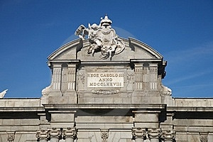 Puerta De Alcala Shield Detail Royalty Free Stock Photography - Image: 22471537