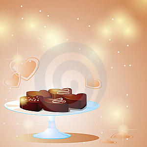 Sweet Chocolate Hearts Royalty Free Stock Photography - Image: 22473097