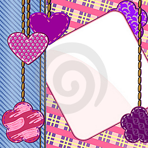 Scrapbook Styled Valentine Card Stock Photography - Image: 22473102