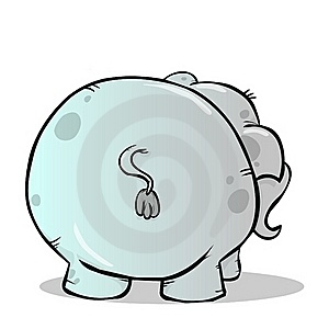 Elephant's Behind Royalty Free Stock Images - Image: 22473339