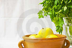 Yellow Apples Still Life Stock Image - Image: 22477751