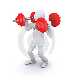Man Who Holds Heavy Weights Stock Photos - Image: 22478503