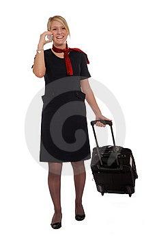 Flight Attendant Going To Work Stock Photos - Image: 22479183