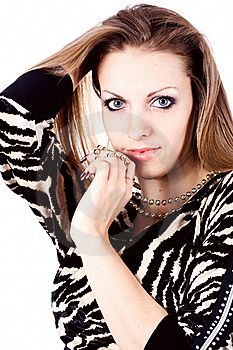 Ambition And Greed In Fashion Woman With Jewelry Stock Image - Image: 22481571