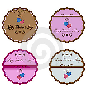 Vector Icons For Valentine`s Day Royalty Free Stock Photos - Image: 22482338