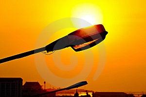 Streetlight Against Sunset Royalty Free Stock Image - Image: 22494306