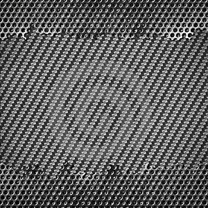 Metal With Carbon Fiber Stock Photo - Image: 22495730