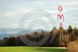 Powerlines Pole Royalty Free Stock Images - Image: 2254739