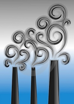 Smoke Stacks Pollution Clipart Royalty Free Stock Photos