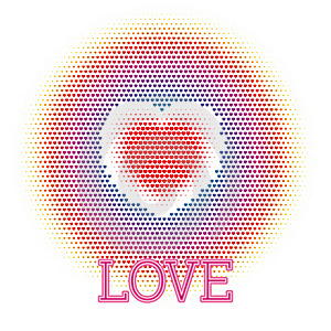 Drew Heart. Abstract Love Concept Royalty Free Stock Photography - Image: 22501247