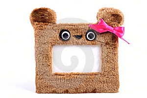 Brown Fluffy Photo Frame Stock Photo - Image: 22501440
