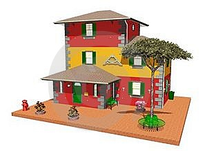 Building City Architecture-Typical On North Italy Stock Image - Image: 22502161