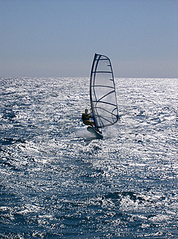 Windsurfing  On The Move Royalty Free Stock Photo - Image: 22504025
