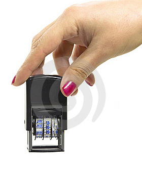 Automatic Date Stamp Stock Photography - Image: 22504652