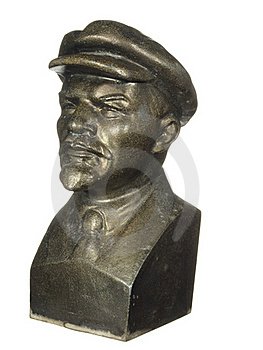Old Bronze Bust Of Lenin Royalty Free Stock Image - Image: 22508496
