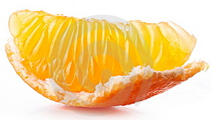 Tangerine Slice. Royalty Free Stock Image - Image: 22509126