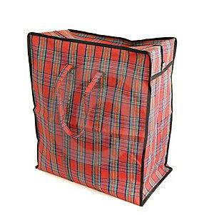 Red Tartan Bag Royalty Free Stock Photos - Image: 22509928