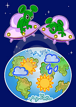 Aliens And Weather Stock Photography - Image: 22510242