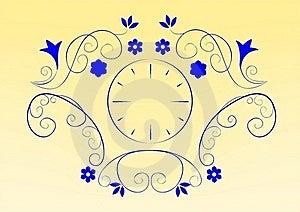 Floral Clock Royalty Free Stock Photos - Image: 22531238