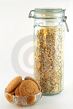 Oat Biscuits And Oat Flakes Stock Photography - Image: 22545872
