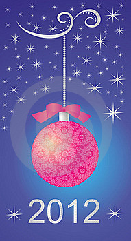 Winter Background With Red Christmas Ball Royalty Free Stock Images - Image: 22547379