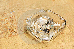 Cigarette Butt In Ashtray Stock Photography - Image: 22550742