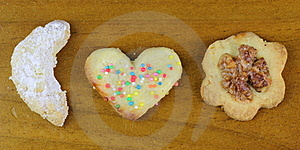 Christmas Cookies Traditional Home-baked Royalty Free Stock Photos - Image: 22551198