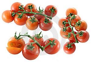 Fresh Cherry Tomato On White Background Royalty Free Stock Images - Image: 22551349