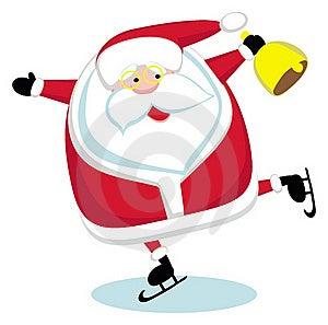Santa  Skating Stock Image - Image: 22554271