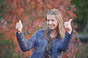 Pretty Positive Girl With Thumbs Up Stock Photography - Image: 22554782