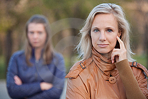 Girlfriend For A Walk In The Autumn Park Royalty Free Stock Images - Image: 22554789