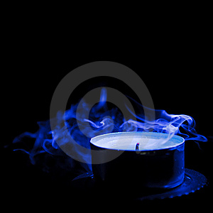 Candle With Smoke Royalty Free Stock Photography - Image: 22556897