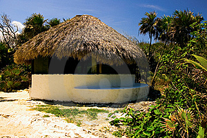Palapa On A Beach Royalty Free Stock Image - Image: 22558416