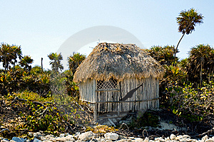 Palapa On A Beach Royalty Free Stock Photo - Image: 22558435