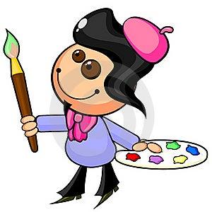 Cartoon Artist Royalty Free Stock Image - Image: 22560786