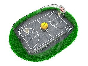 3D Concept Basketball Stock Photo - Image: 22563820