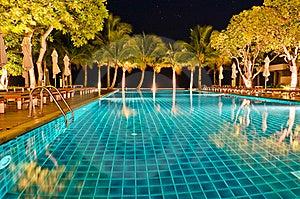 Night Views Of Swiming Pool Royalty Free Stock Photography - Image: 22569867