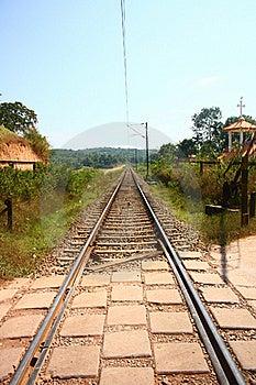 Empty Railway Tracks Through Scenic India Stock Photos - Image: 22571743