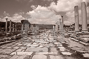 Remains Of An Ancient Roman Stock Image - Image: 22572721