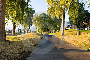 Cart Path At Golf Course Royalty Free Stock Photo - Image: 22575795